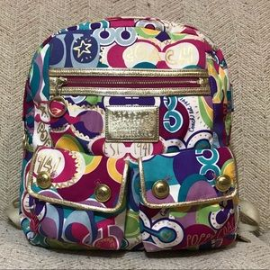 🎒Coach Poppy Colorful Backpack🎒